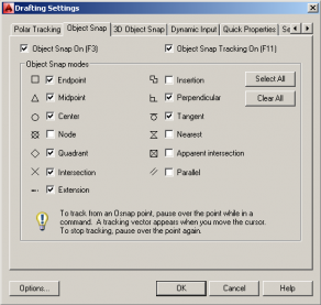 autocad-osnapsettings